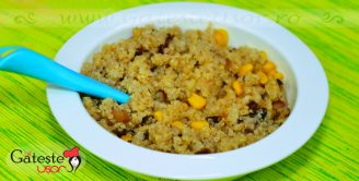 Quinoa cu Porumb si Fasole rosie