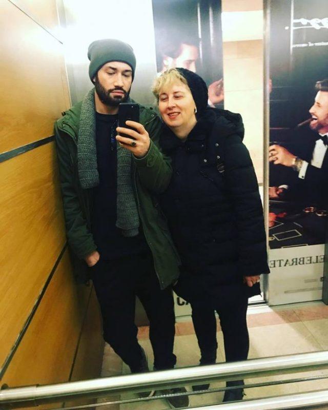 Mihai Bendeac și mama lui