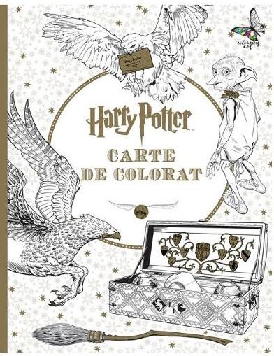 """Fanii seriei """"Harry Potter"""" găsesc mai multe cărți de colorat antistres pentru adulți aici."""