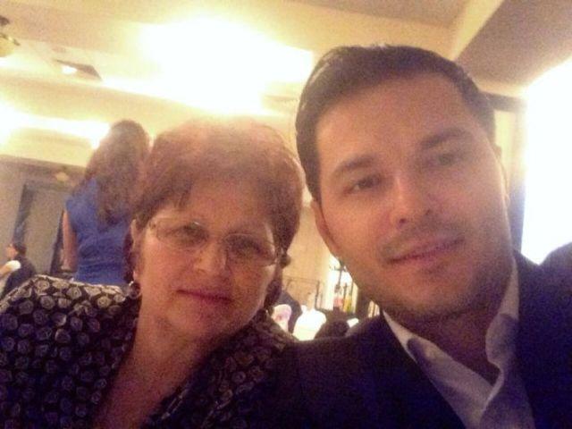 Liviu Vârciu și mama lui