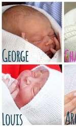 Prinții George și Louis, Prințesa Charlotte și verișorul lor Archie.