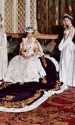 Elisabeta a II-a, în ziua încoronării (2 iunie 1953)