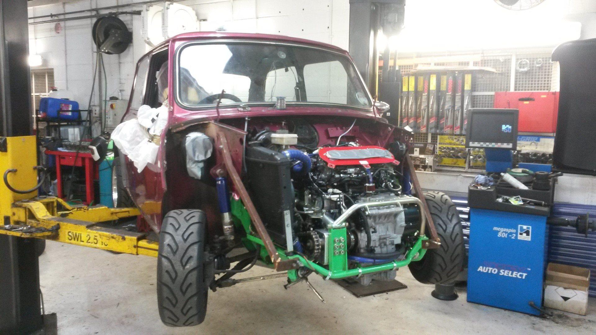 hight resolution of mini with yamaha r1 engine wiring loom work in progress