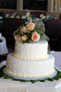 2 Tier Square Wedding Cakes Pictures