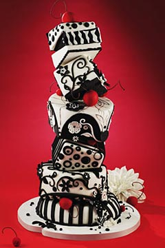 Black And White Wedding Cake Get