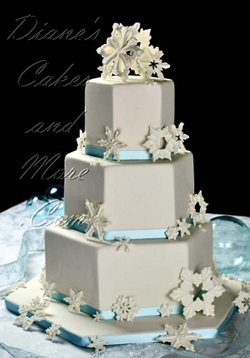 Snowflake Wedding Cake Designs