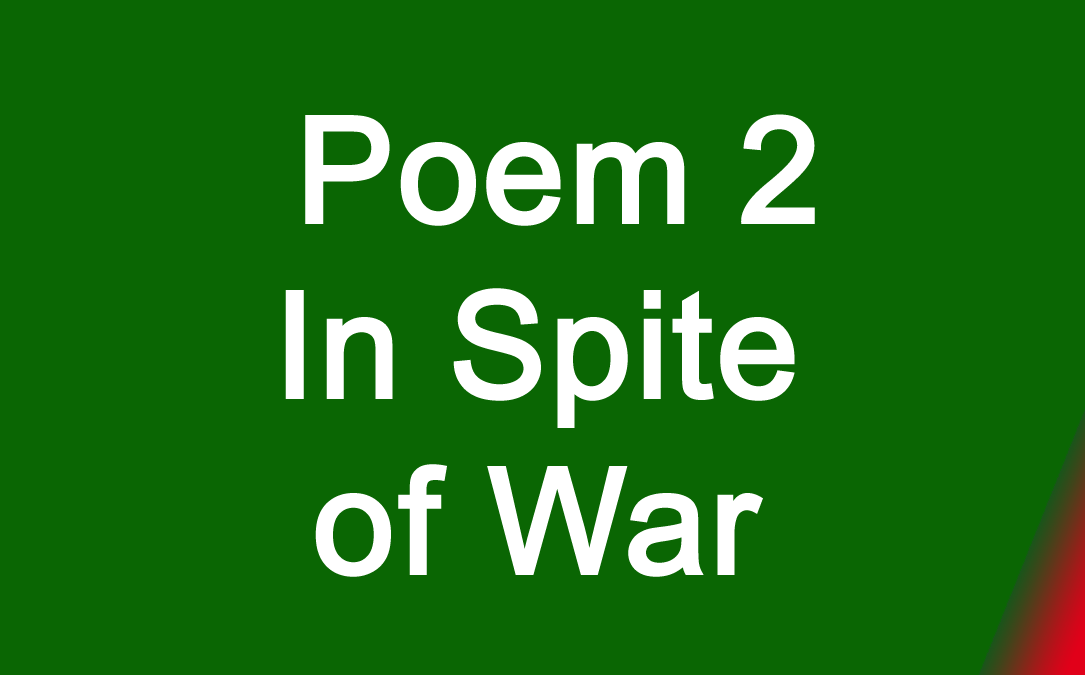 Poem 2 In Spite of War