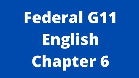 Federal G11 English Chapter 6 Mother to Son