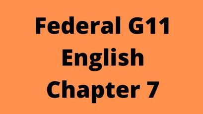 Federal G11 English Chapter 7 Choice of Career