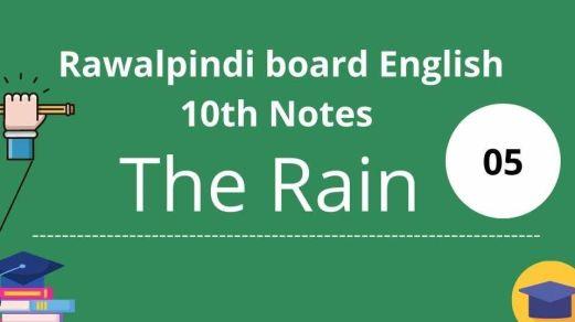 Rawalpindi board English 10th Notes Chapter 5