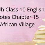 Sindh Class 10 English Notes Chapter 15 African Village