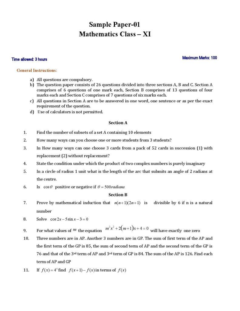 CBSE 11 Mathematics 01 1