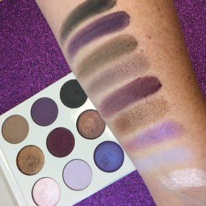 Kylie Cosmetics Purple Eyeshadow Palette Arm Swatches