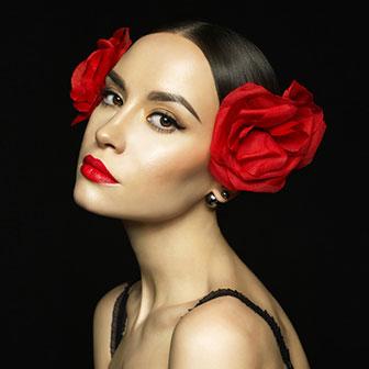 Red lipstick for olive skintones