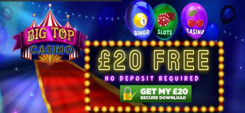 Big Top Casino | £5 Free No Deposit Bonus