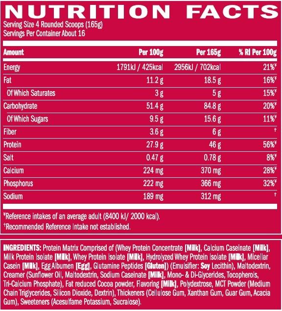 BSN TrueMass 264kg  Protein Carbs Matrix
