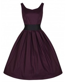 vintage allday φόρεμα Lane plum