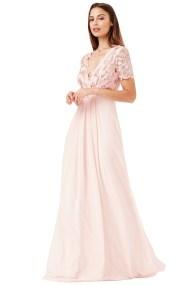 shinny paillete top αέρινο bridal blush φόρεμα Daphne