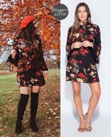 70s styled mini φόρεμα Claudette