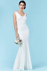 bridal αέρινο maxi φόρεμα degraded mini paillettes