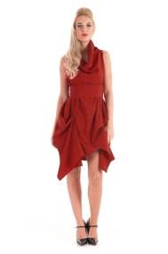 extravagant deep red φόρεμα