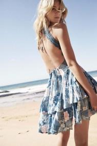bohemian luxe mini φόρεμα blue Santorina