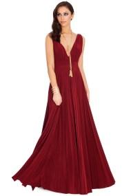 grecian goddess luxe maxi φόρεμα σε wine