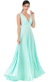 grecian goddess luxe maxi φόρεμα σε mint