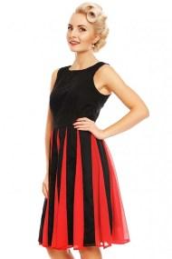 vintage chic φόρεμα Judith retro chiffon red