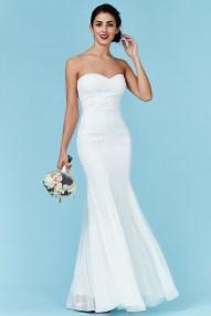 bridal luxe sweetheart φόρεμα degraded paillettes