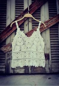 bohemian white crochet top Kira