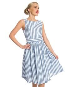 vintage cute φόρεμα antique stripe Audrey