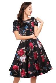 vintage φόρεμα spanish floral Darla