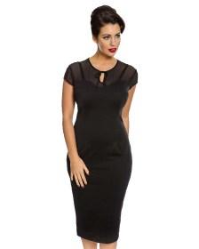 vintage classic black pencil φόρεμα Marlene