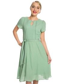 vintage 40s φόρεμα Brenda σε πράσινο
