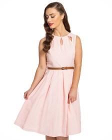 vintage φόρεμα cut out slits Lilian pink