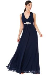 αέρινο princess maxi φόρεμα σε μπλε navy