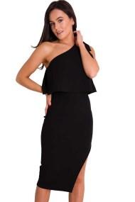 sexy twist one shoulder φόρεμα lbd Tiana