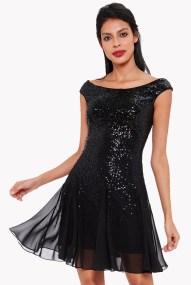 party φόρεμα mini paillette black
