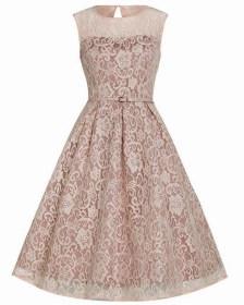 vintage romantic 50s chic φόρεμα Alina pink salmon