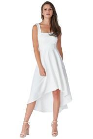 feminine bridal jersey φόρεμα high low