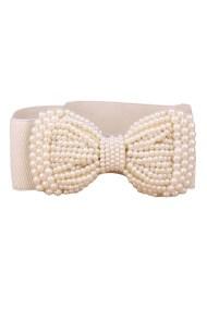 vintage styled elastic ζώνη pearls