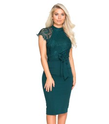 sophisticated coctail φόρεμα Leila forest green