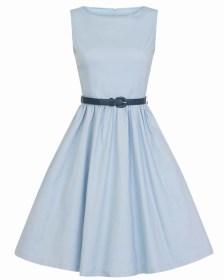 vintage classic φόρεμα Audrey sky blue