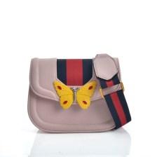 fashion bag acid G style butterfly σε ροζ