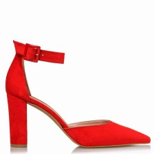 new vintage γόβες ankle strap Shanna high red