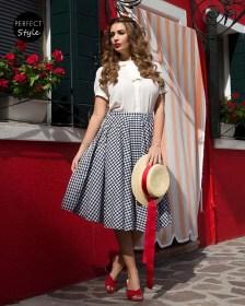 vintage full skirt καρώ φούστα Dolly