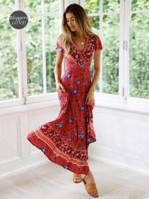 bohemian must have ethnic φόρεμα Eden red