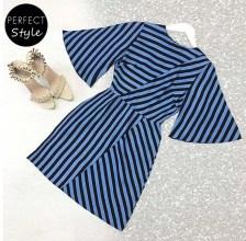 graffic stripes mini φόρεμα optical blue