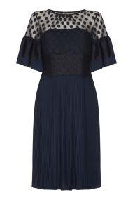 vintage 20s flapper φόρεμα πιέτες navy chloe